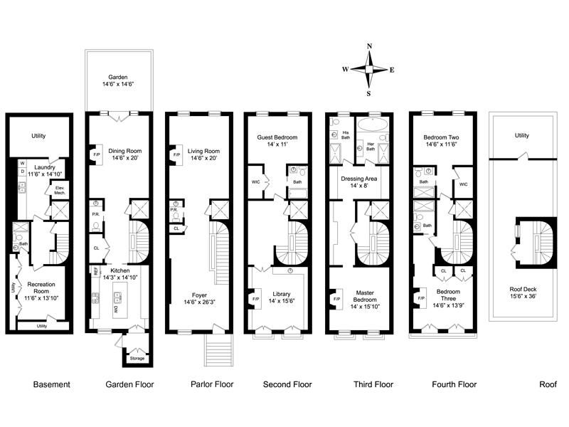 New York Townhouse Floor Plans Car Interior Design