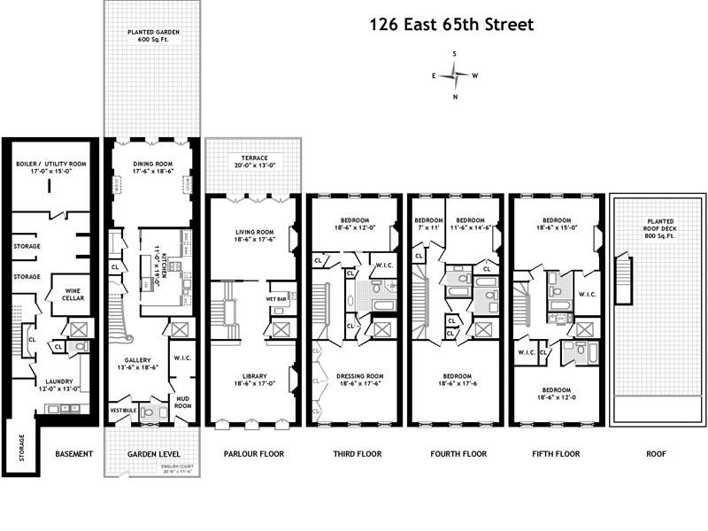 126 east 65th street new york ny townhouse new york Luxury townhouse floor plans