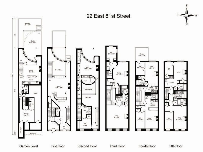 21 townhouse off fifth avenue new york ny townhouse Luxury townhouse floor plans