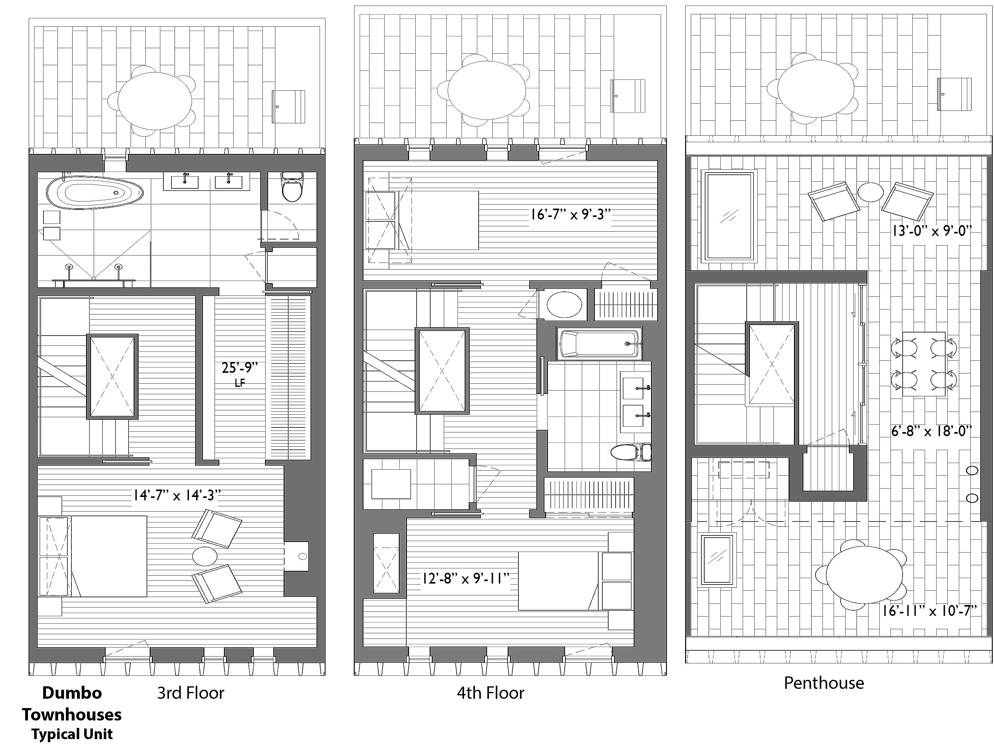 Nyc Townhouse Floor Plans: Dumbo's Contemporary Townhouses Brooklyn, NY 11201