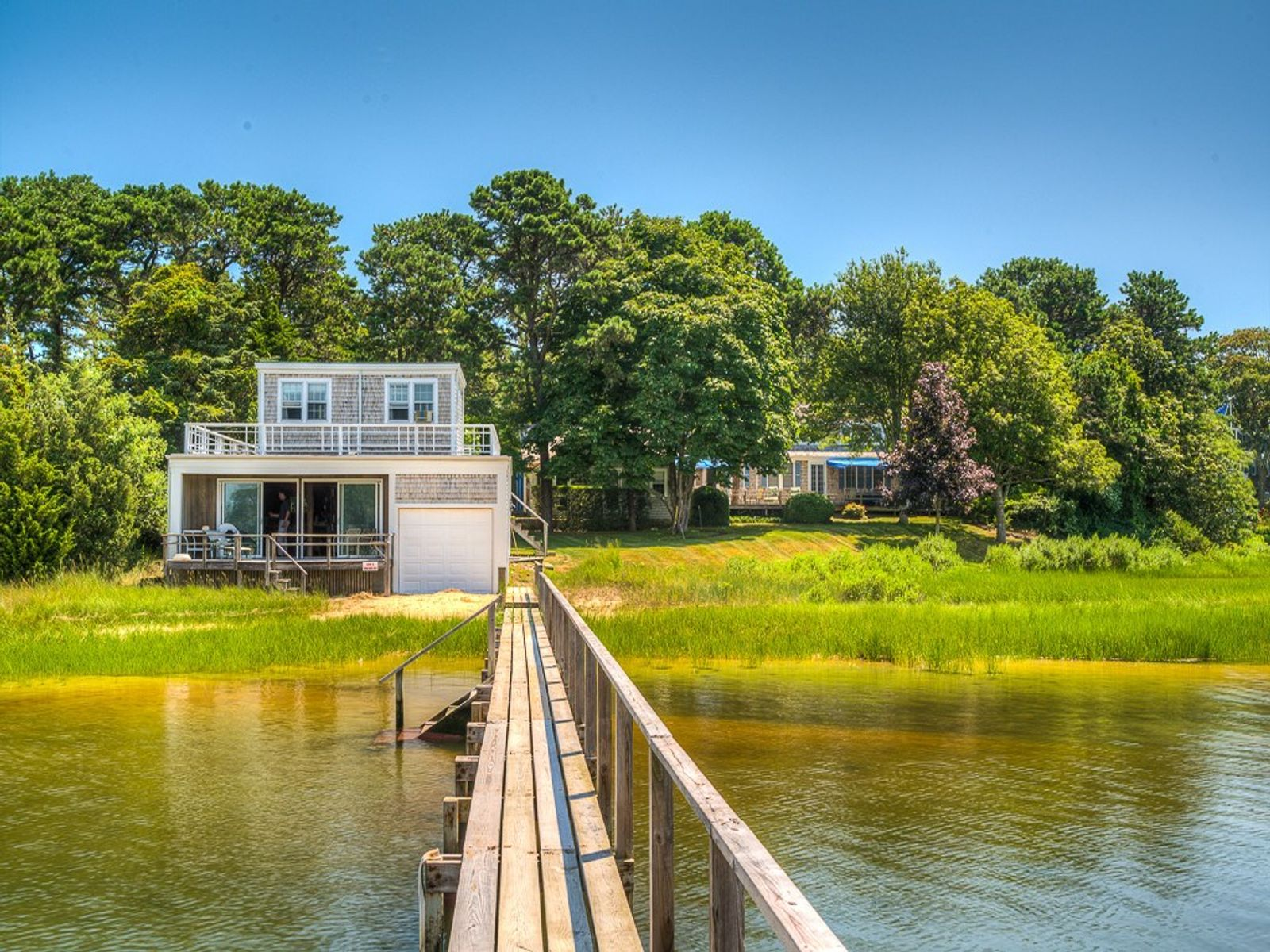 Beachfront with Boathouse and Dock