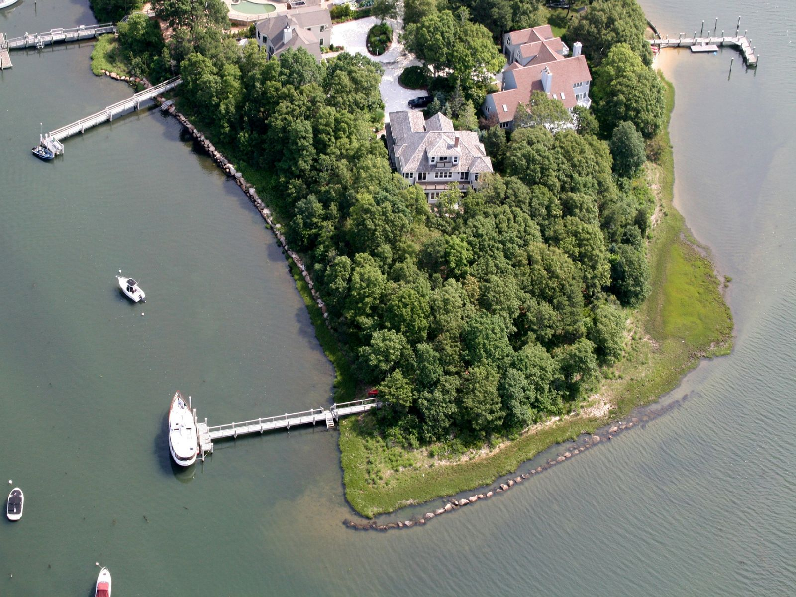 Waterfront Boaters' Haven with Dock, Falmouth MA Single Family Home - Cape Cod Real Estate