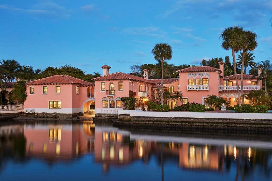 Lakefront Venetian Mizner Estate Palm Beach, FL 33480
