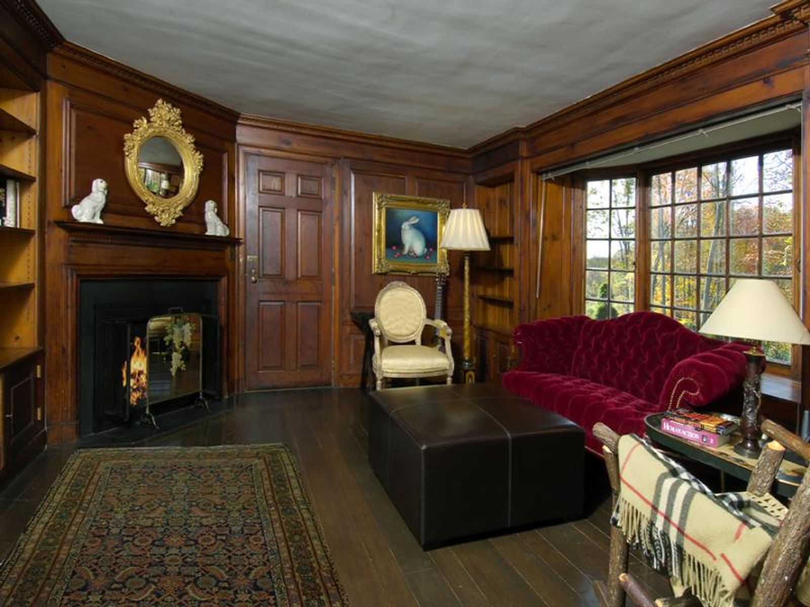 Paneled Den with Fireplace