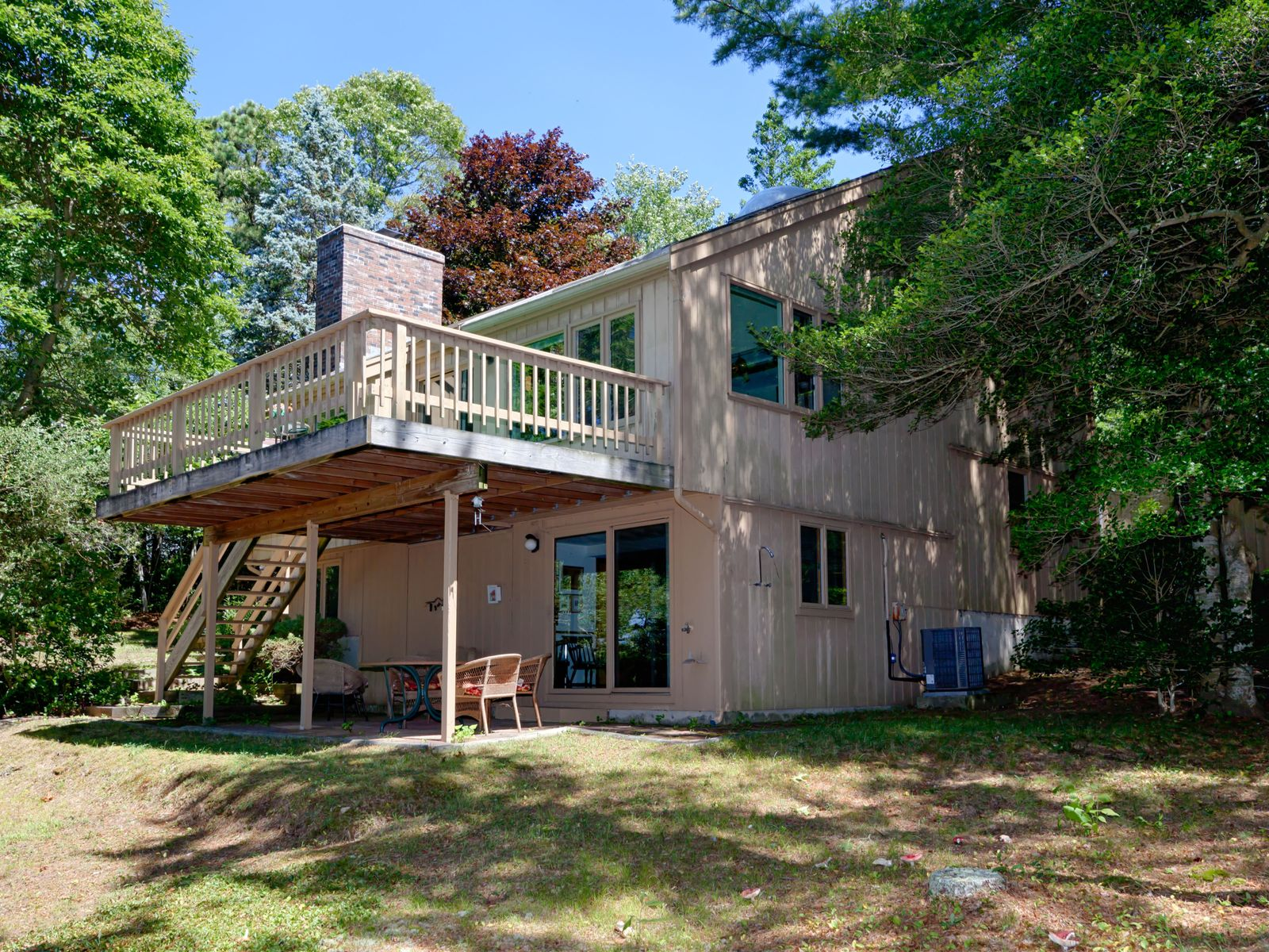 Waterfront with Hamblin's Pond Views, Marstons Mills MA Single Family Home - Cape Cod Real Estate