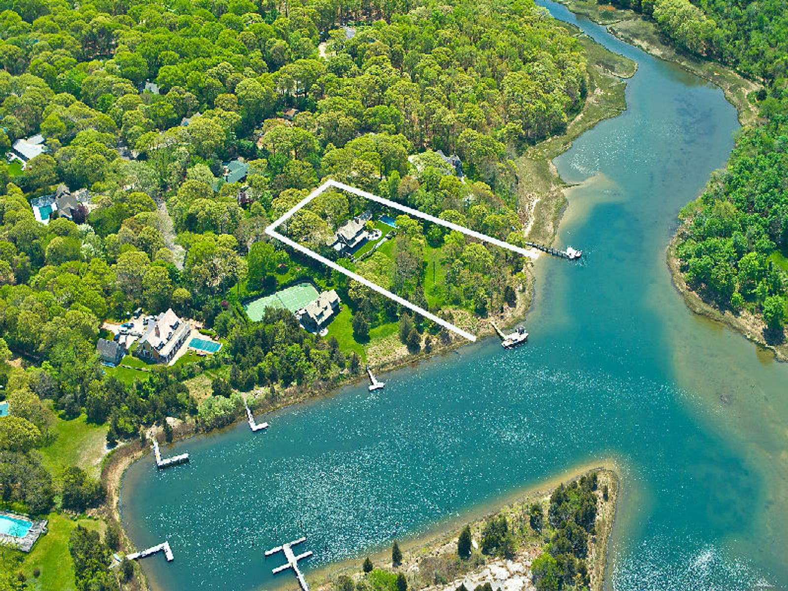 Waterfront With A Private Dock, North Haven NY Single Family Home - Hamptons Real Estate