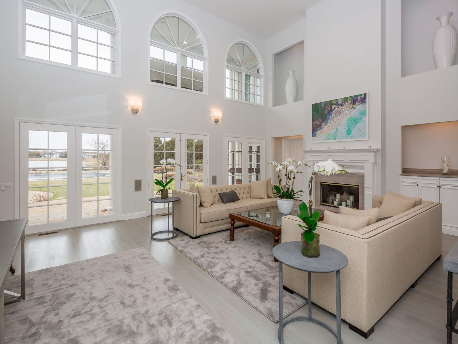 Pondfront Estate With Tennis, Southampton NY Single Family Home - Hamptons Real Estate