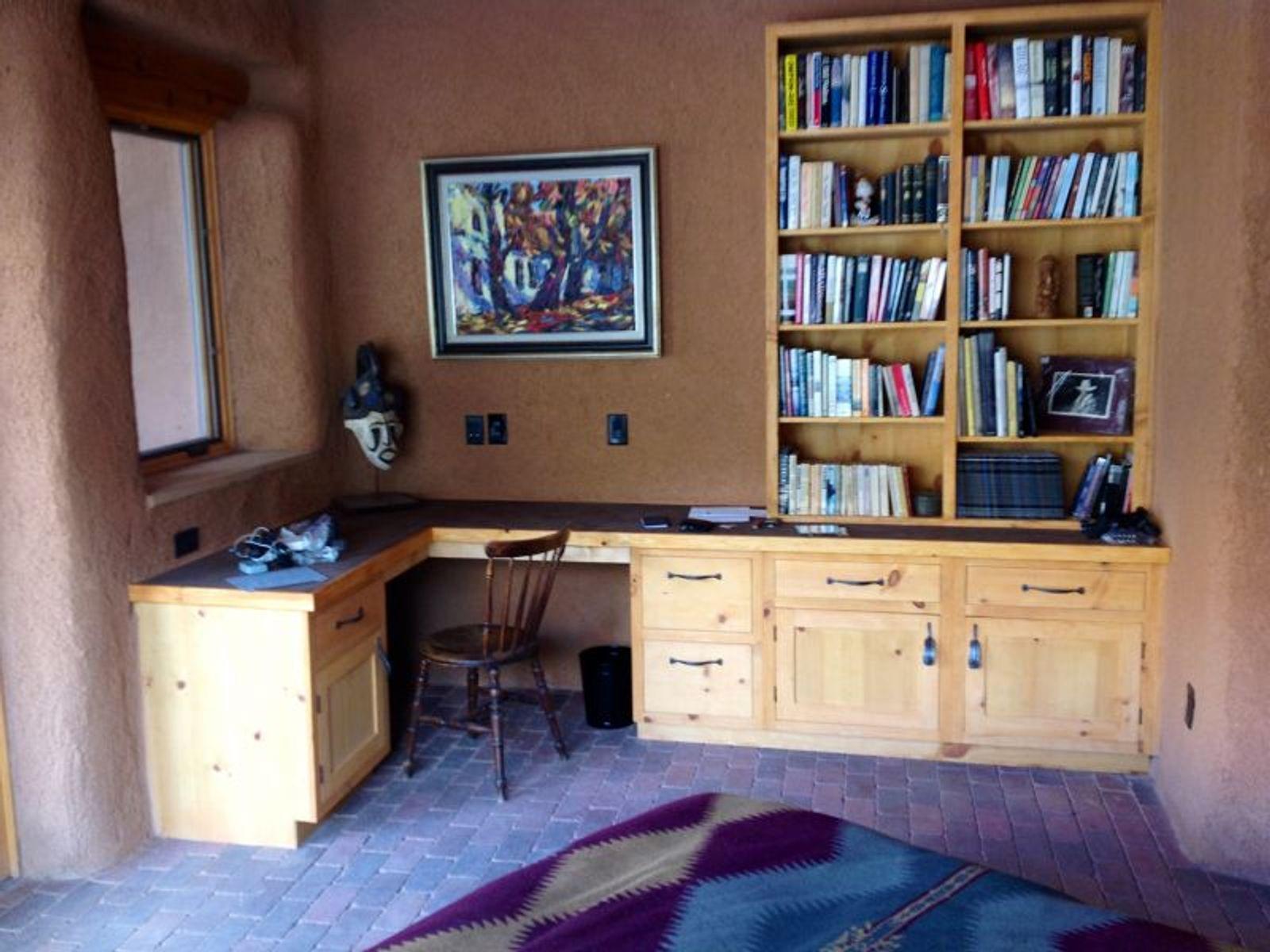 Main House: Master Bedroom desk, bookshelves
