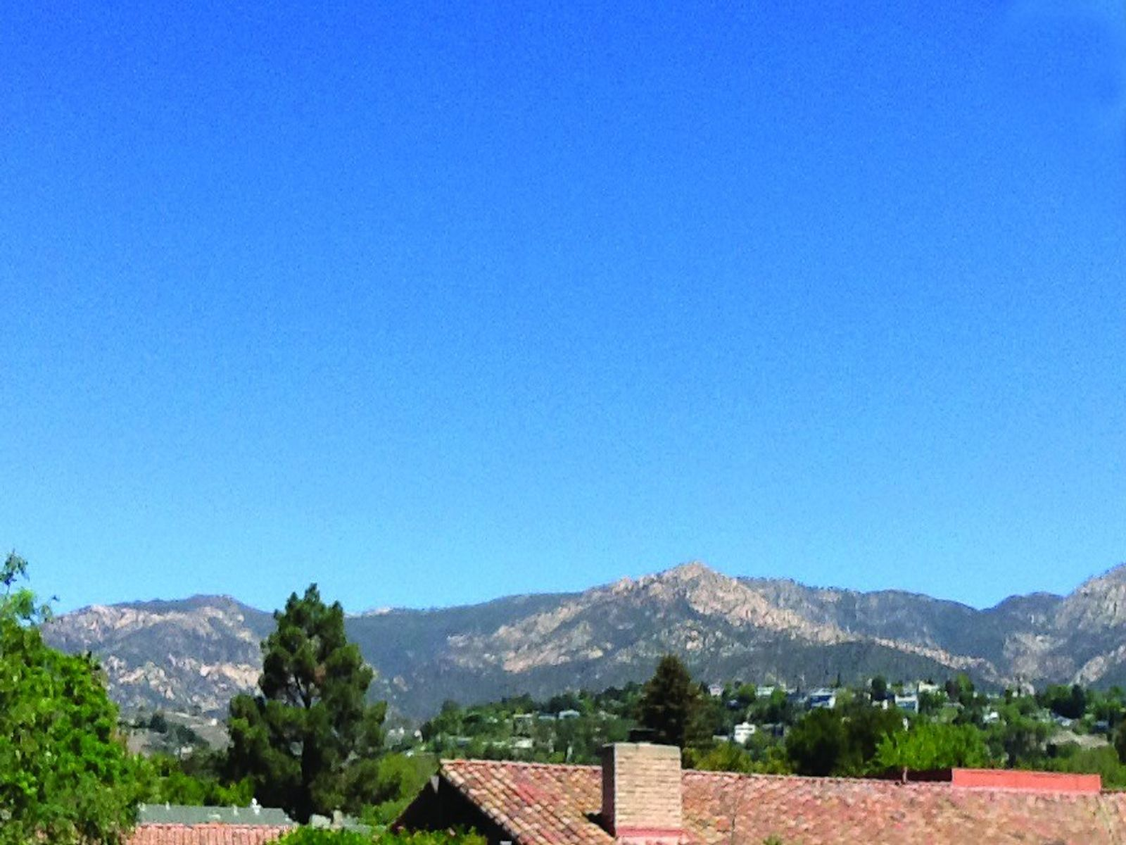 Mountain view from deck