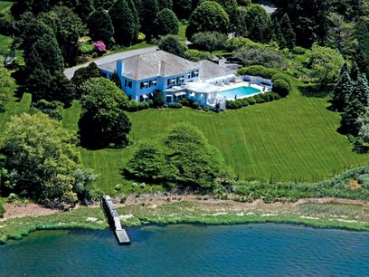 Waterfront Estate on Captains Neck Lane, Southampton NY Single Family Home - Hamptons Real Estate