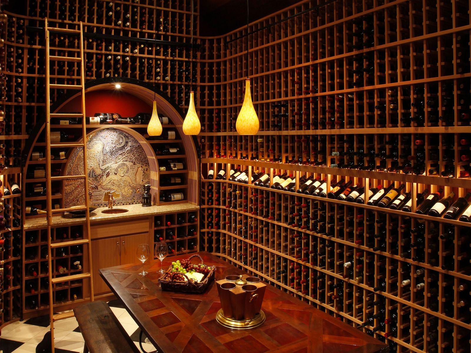 4,500+ bottle temperature controlled wine cellar.