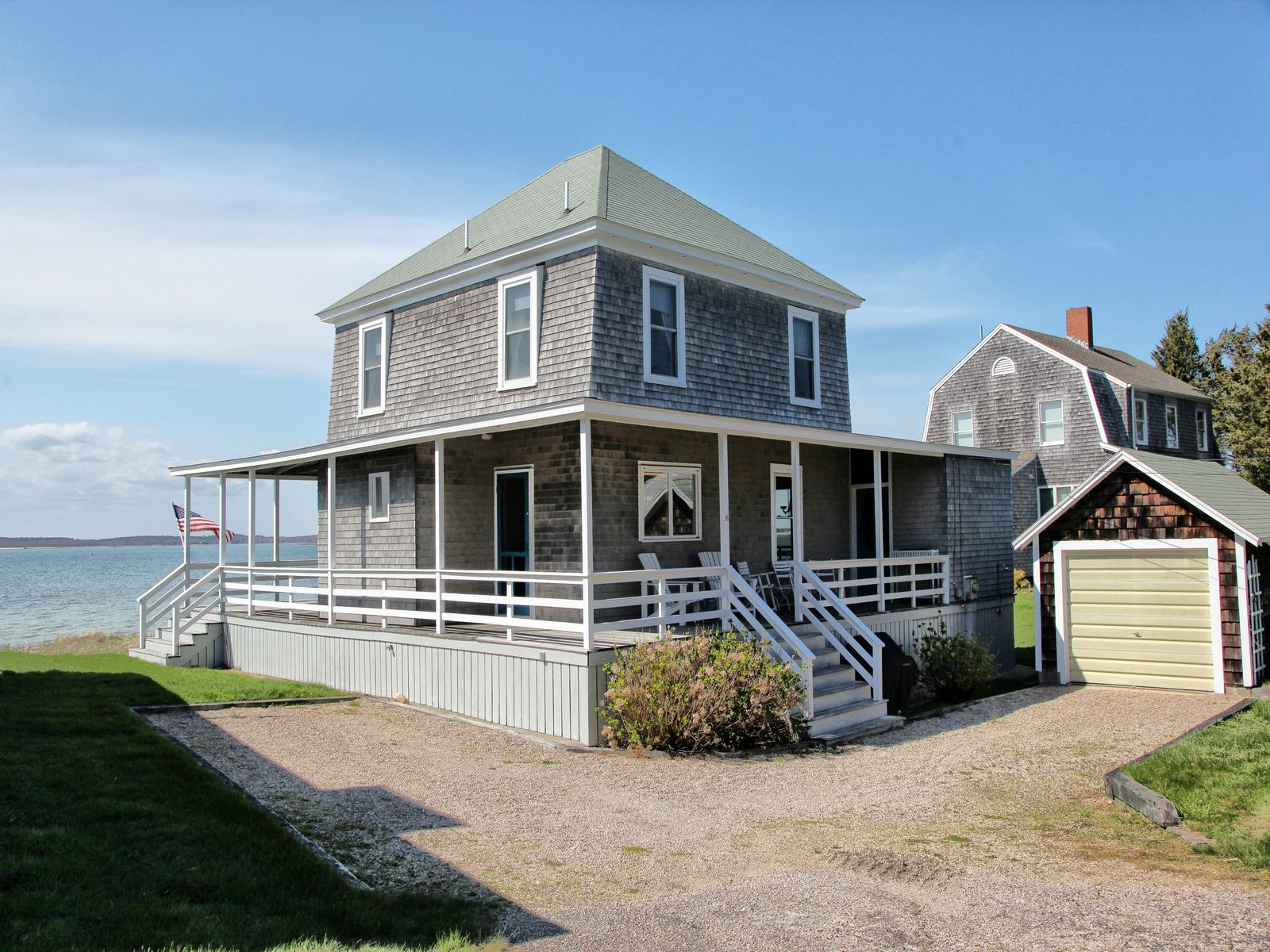 Wenaumet Bluffs Beachfront Summer House, Pocasset MA Single Family Home - Cape Cod Real Estate