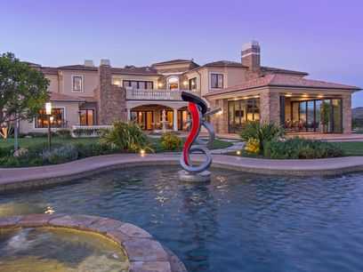 Palatial Mediterranean-style Estate, Santa Rosa Valley CA Single Family Home - Ventura Real Estate