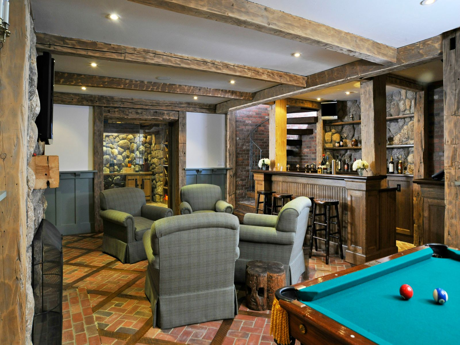 Pub Room and Wine Cellar