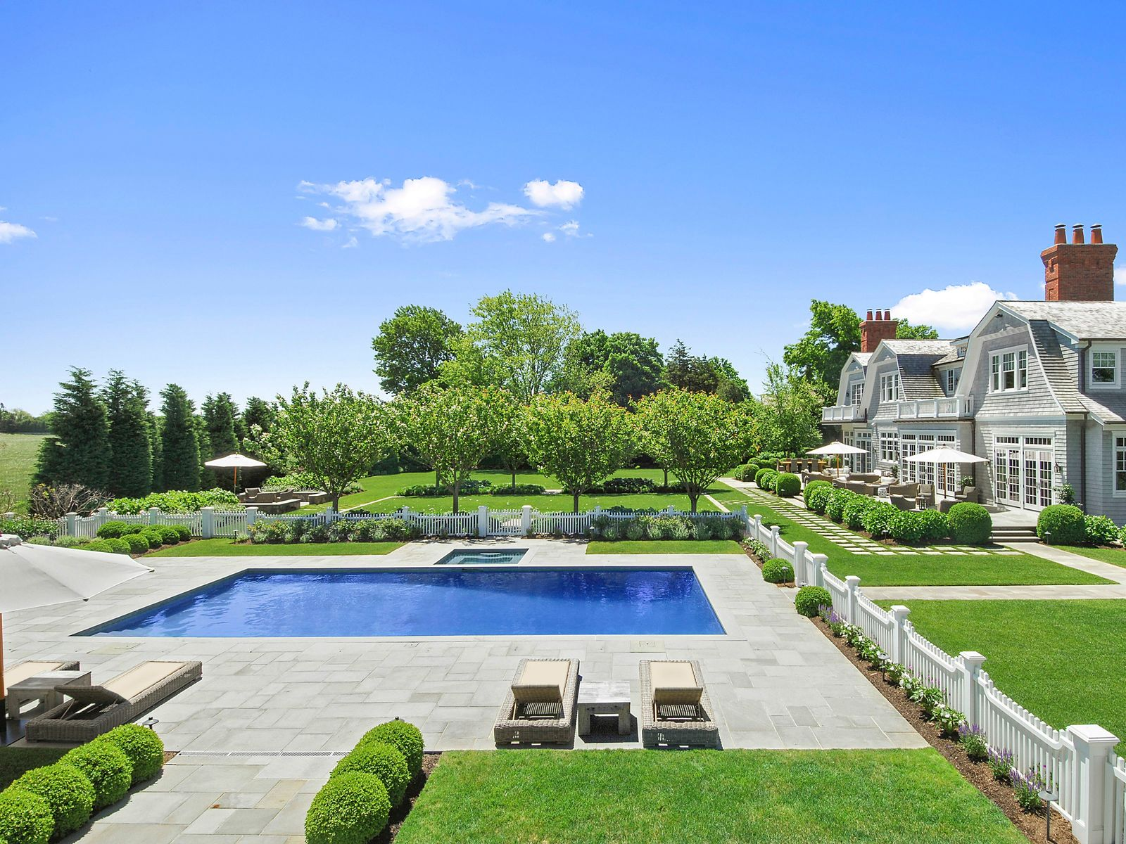 Stately Traditional with Farm Views , Water Mill NY Single Family Home - Hamptons Real Estate