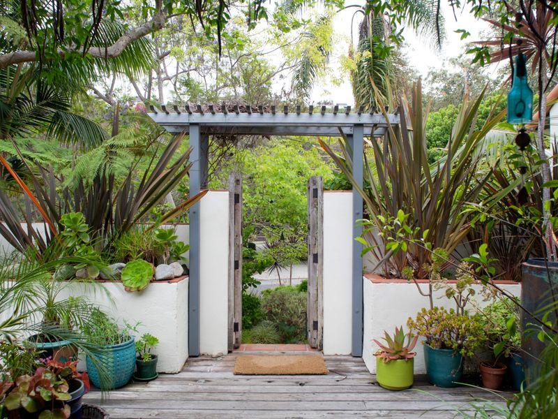 地中海风格的别墅和花园, mediterranean style villa and garden