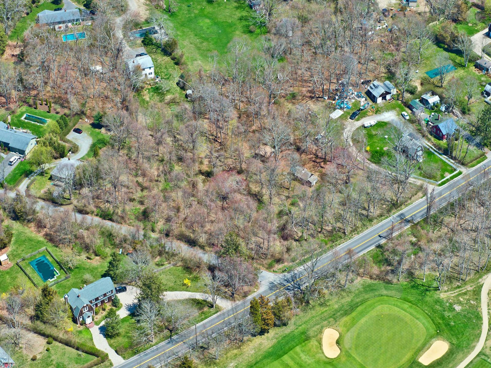 Golf Course Views from .76acres Property, Southampton NY Single Family Home - Hamptons Real Estate