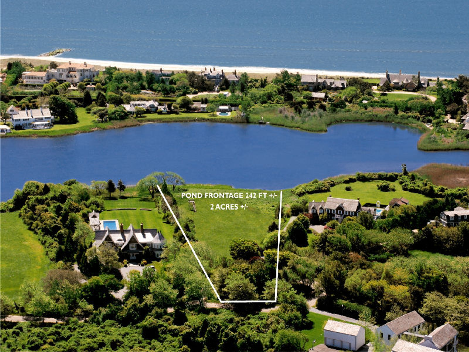 Georgica Pondfront Lot With Permits, East Hampton NY Acreage / Lots - Hamptons Real Estate