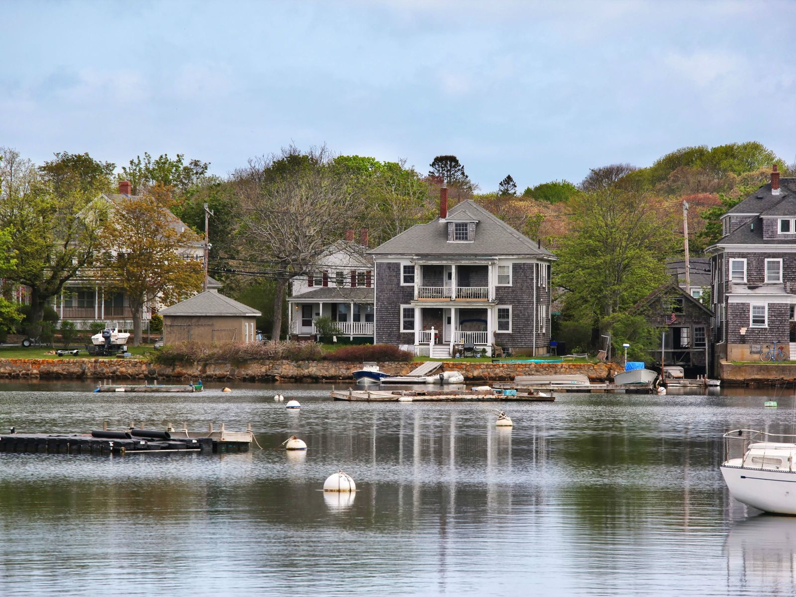 Eel Pond Waterfront with Dock, Falmouth MA Multi-Family - Cape Cod Real Estate