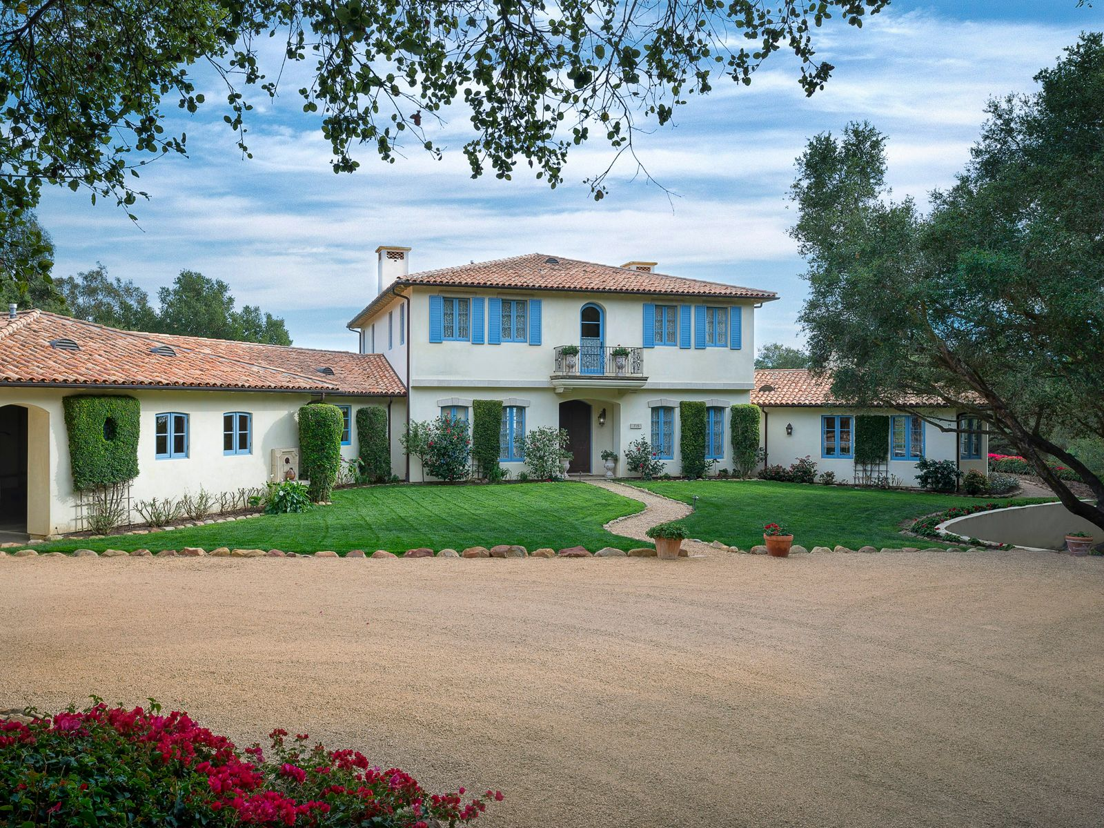 French Mediterranean-Style Estate, Montecito CA Single Family Home - Santa Barbara Real Estate