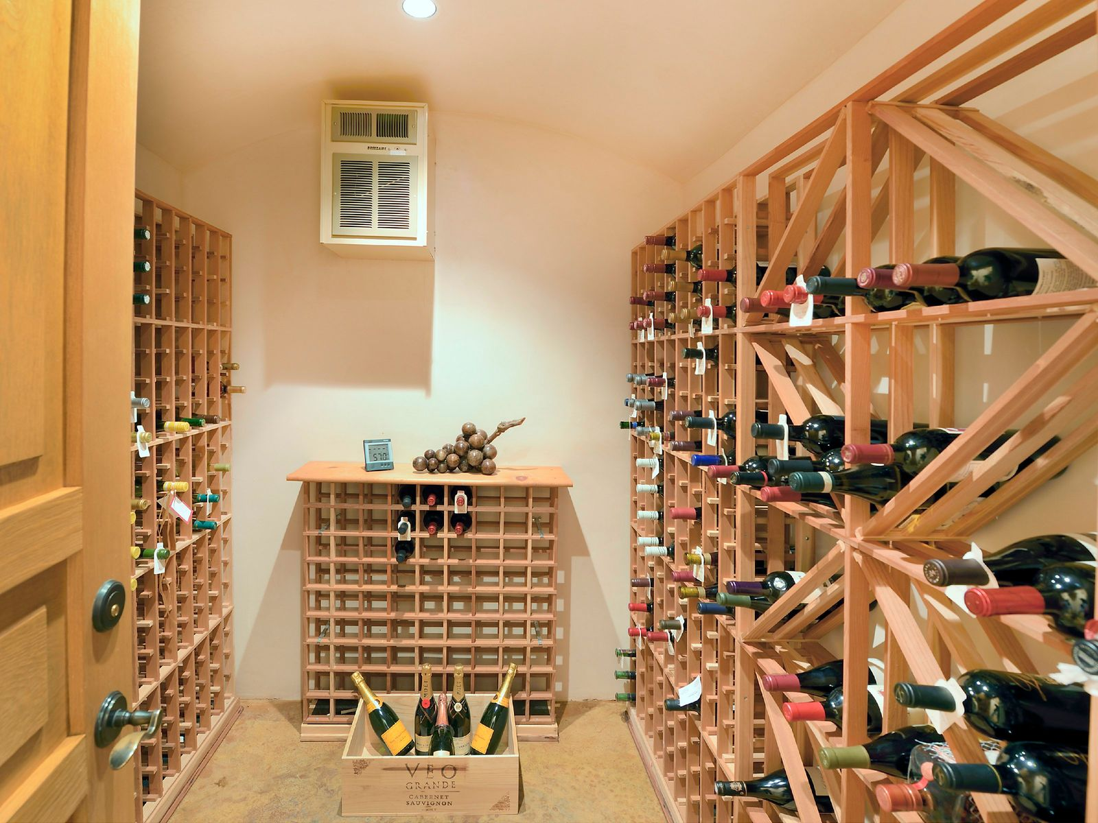 Generously-sized downstairs Wine Cellar