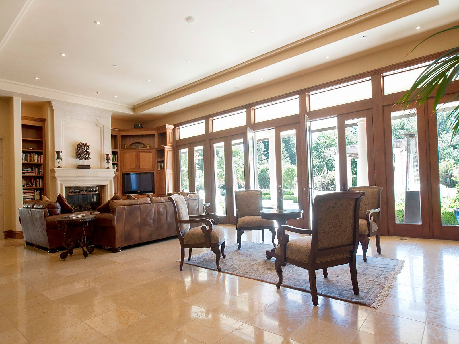 Greatroom has French doors leading outdoors