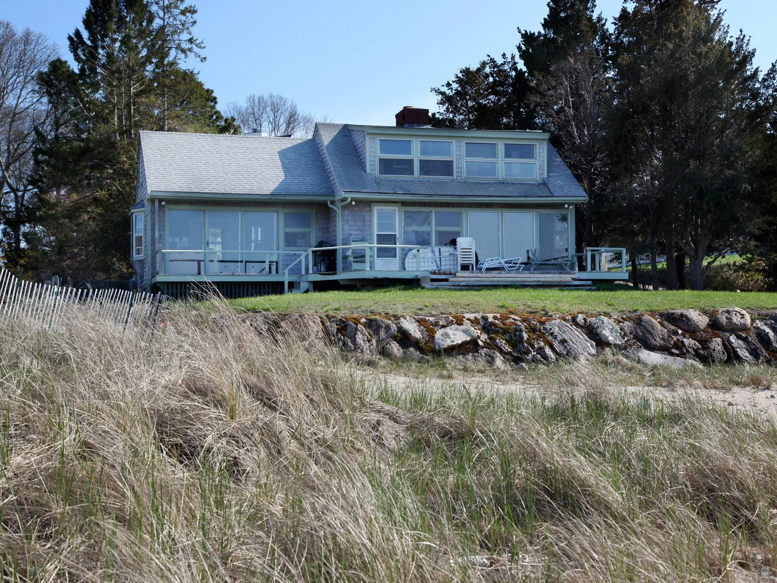 Classic Oceanfront Cottage with Beach, North Falmouth MA Single Family Home - Cape Cod Real Estate