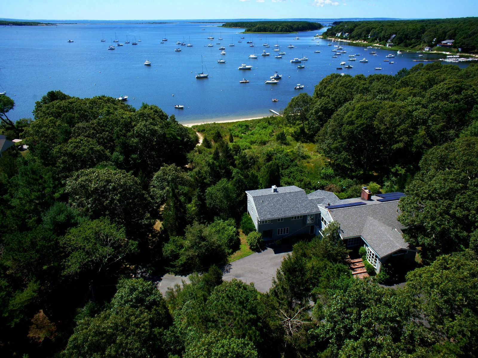 Cape Cod Water Front with Dock, 2+ Acres, Falmouth MA Single Family Home - Cape Cod Real Estate