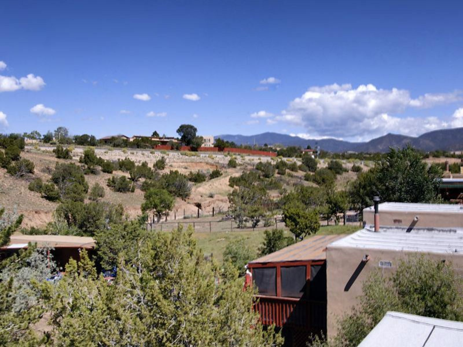 View to the Sangre de Cristo from second story