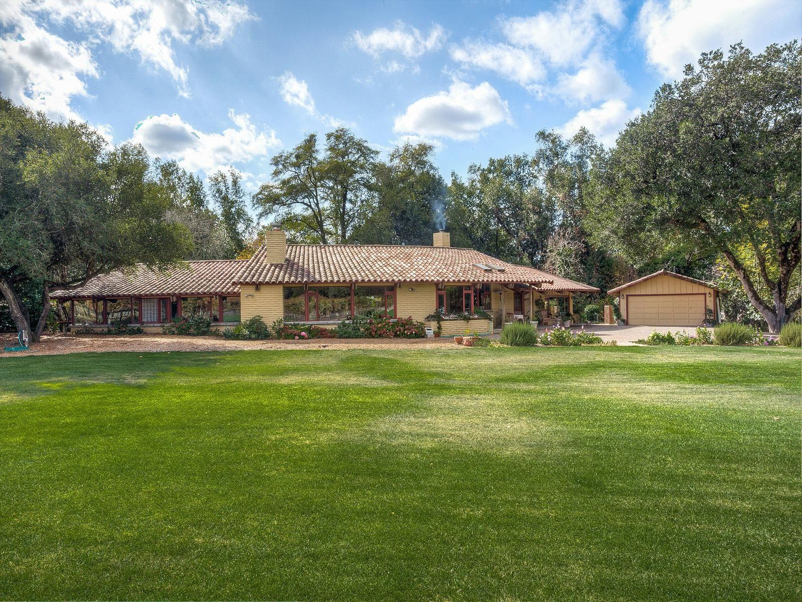 Custom designed adobe brick home