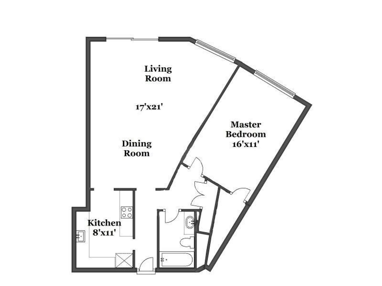 Wow, 1 bedroom with a deck!
