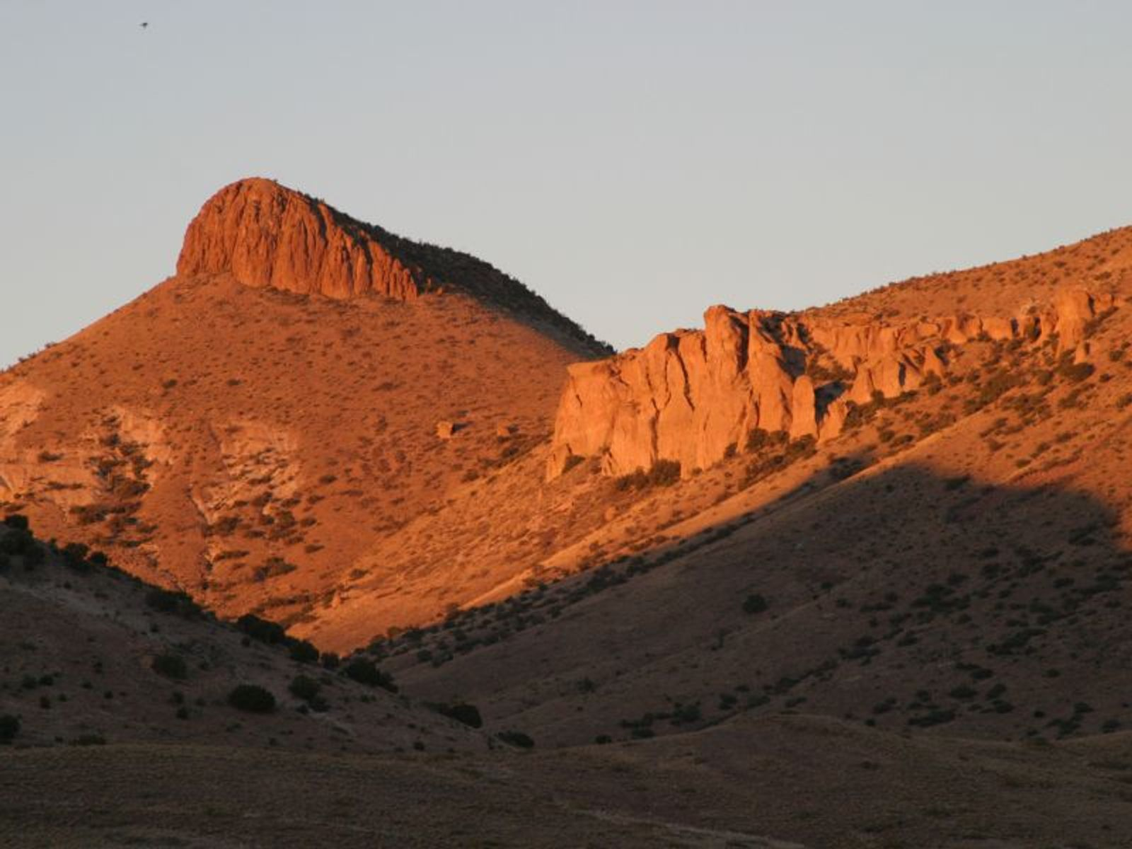 Brenda Mountain South & Cliffs at Sunset