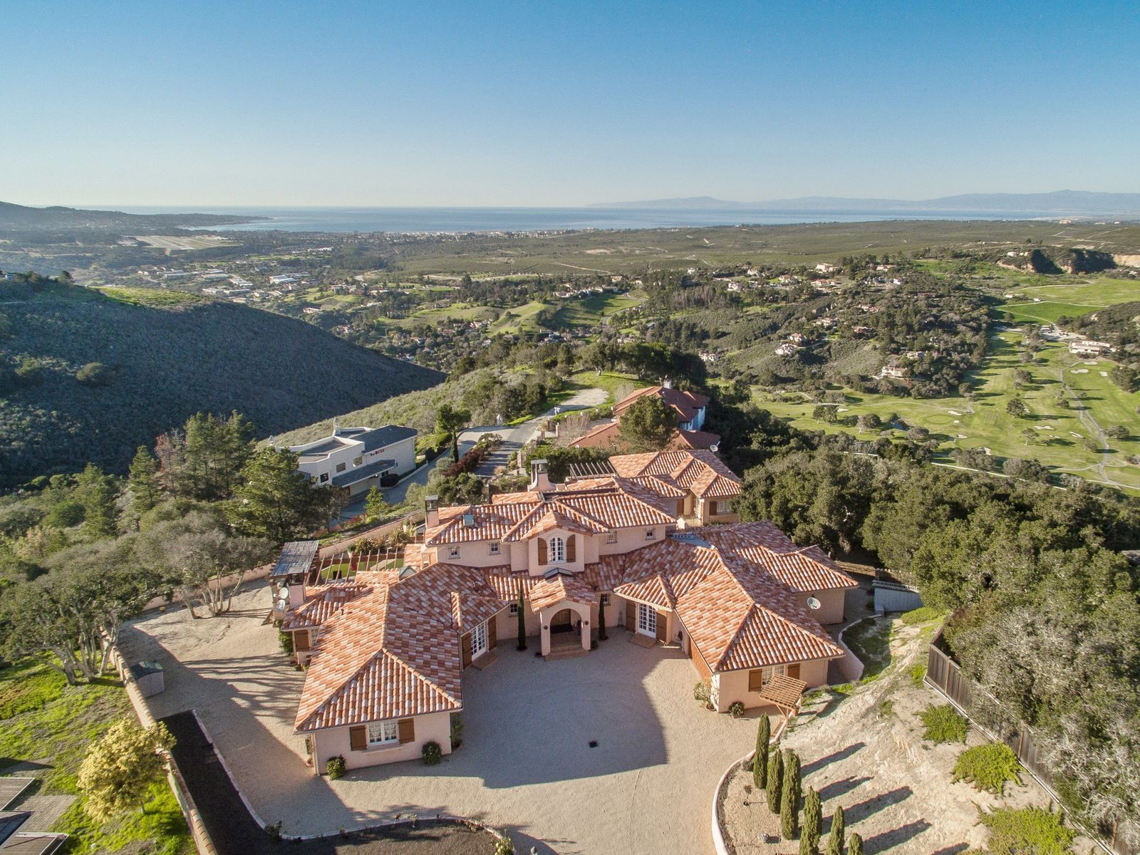 A Mediterranean with Sweeping Bay Views, Monterey CA Single Family Home - Monterey Real Estate