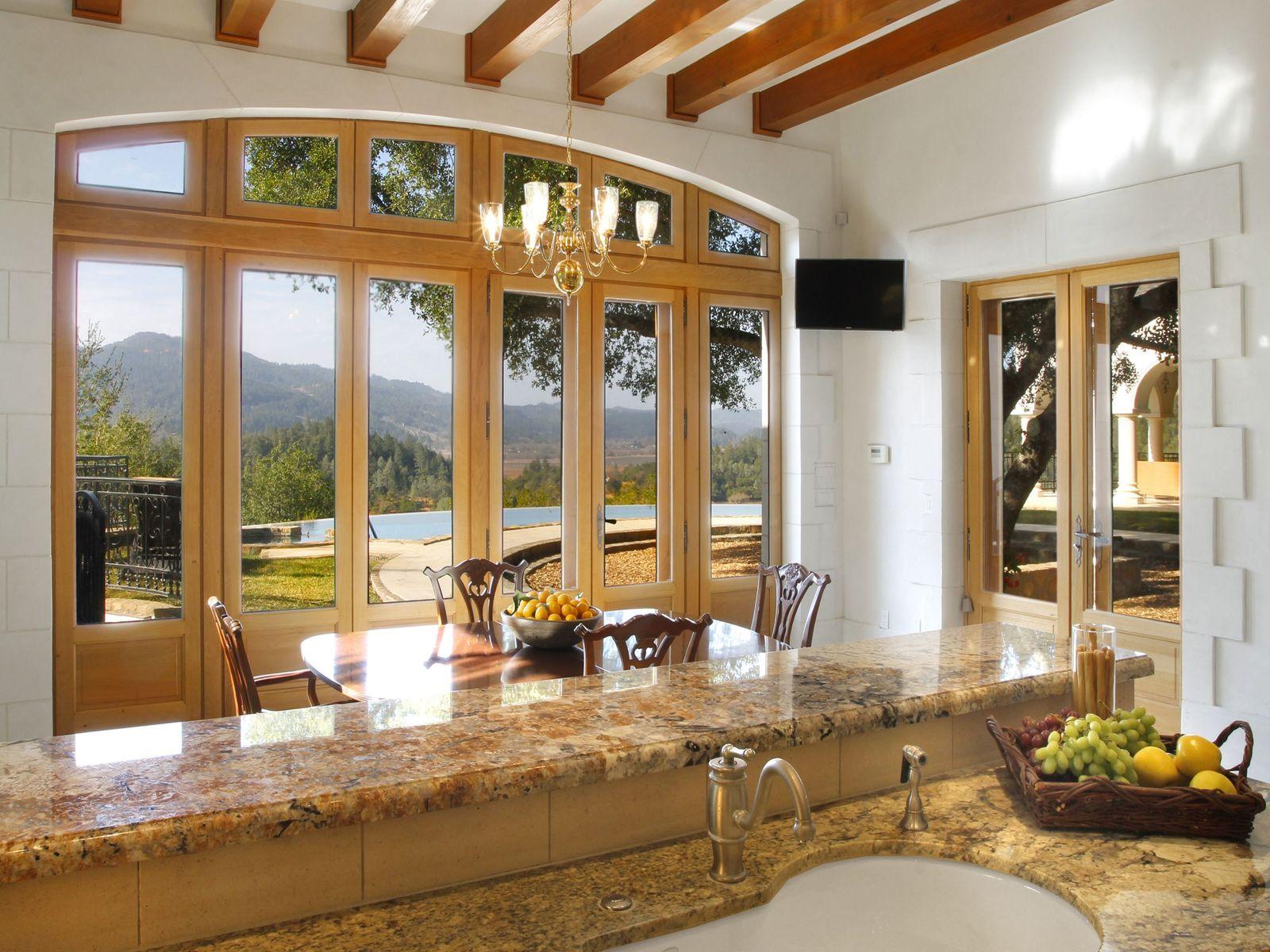 Panoramic Napa Valley Views through French doors.