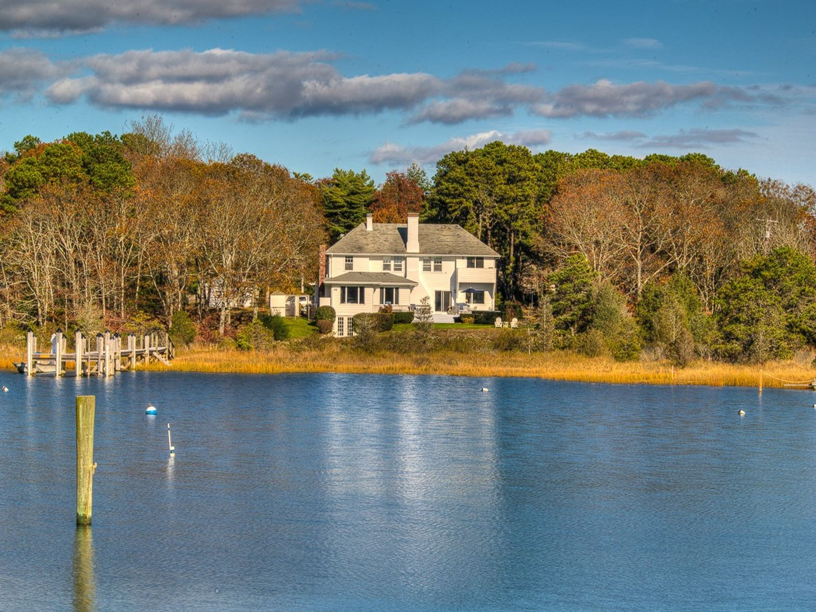 Waterfront with Deep Water Dock, Osterville MA Single Family Home - Cape Cod Real Estate