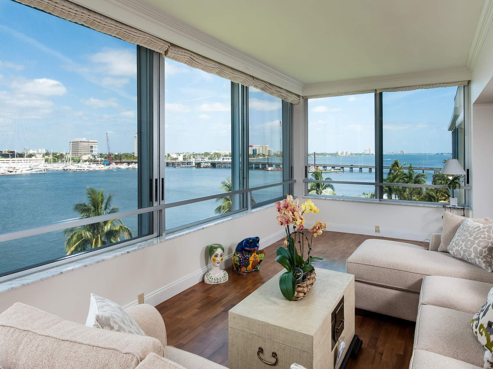 Expansive Direct Waterfront, Palm Beach FL Condominium - Palm Beach Real Estate