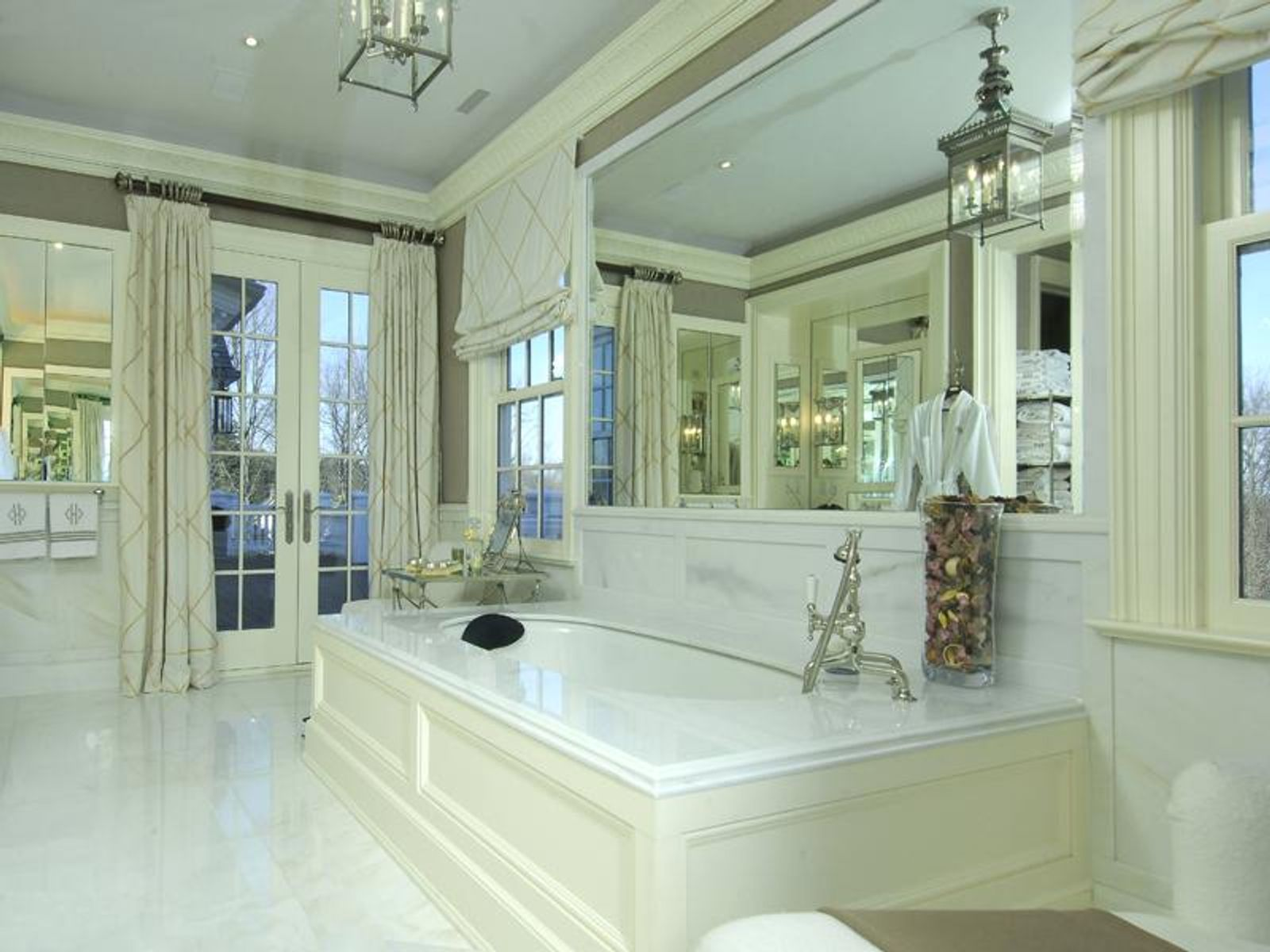 Master Bathroom with Balcony