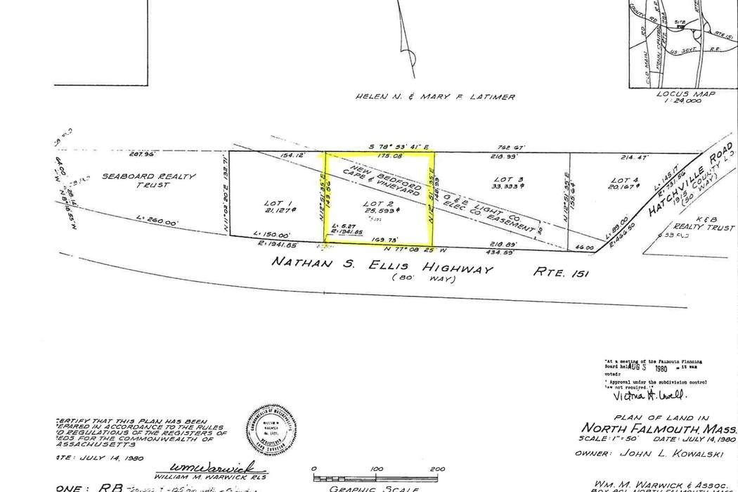 Lot 2 Nathan S. Ellis Highway Falmouth, MA 02556