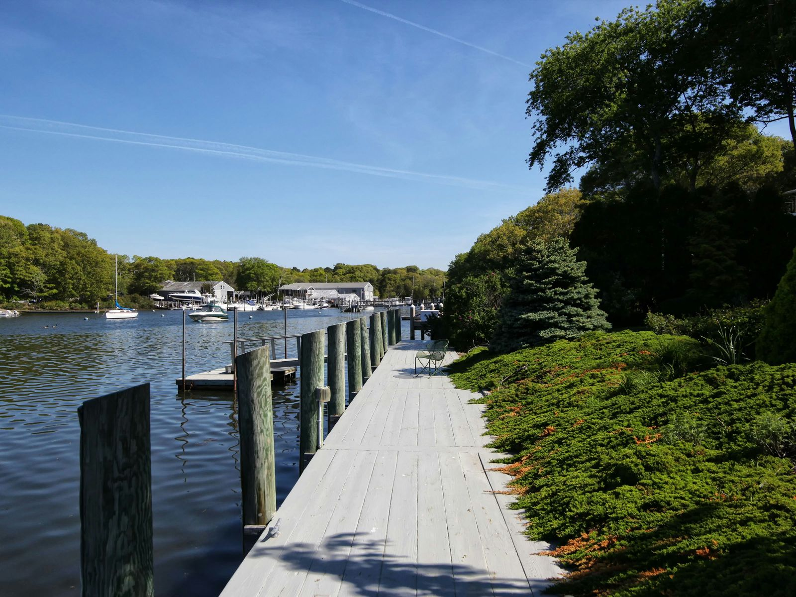 Waterfront with Dock in Falmouth