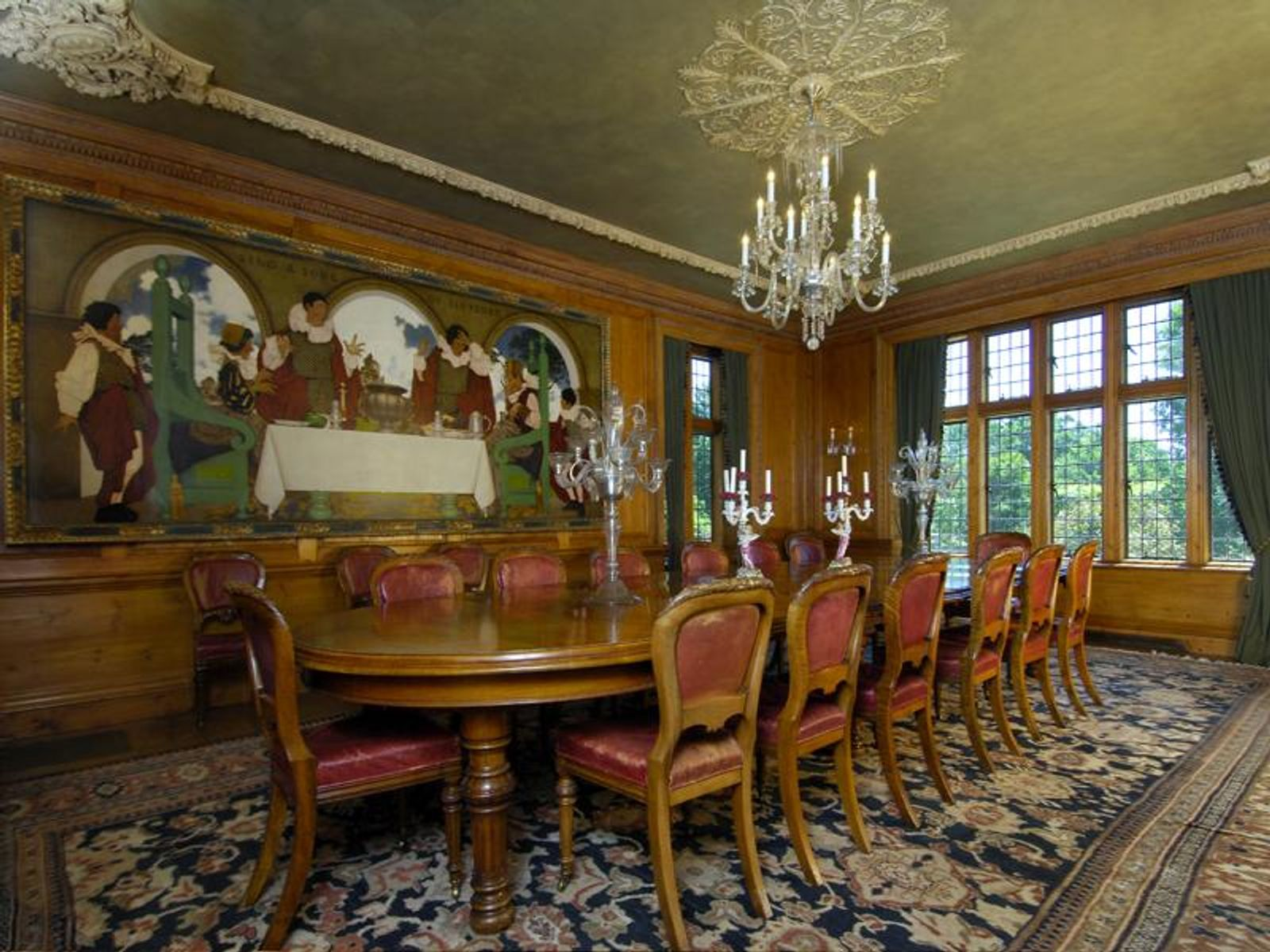 Paneled Banquet-Style Dining Room