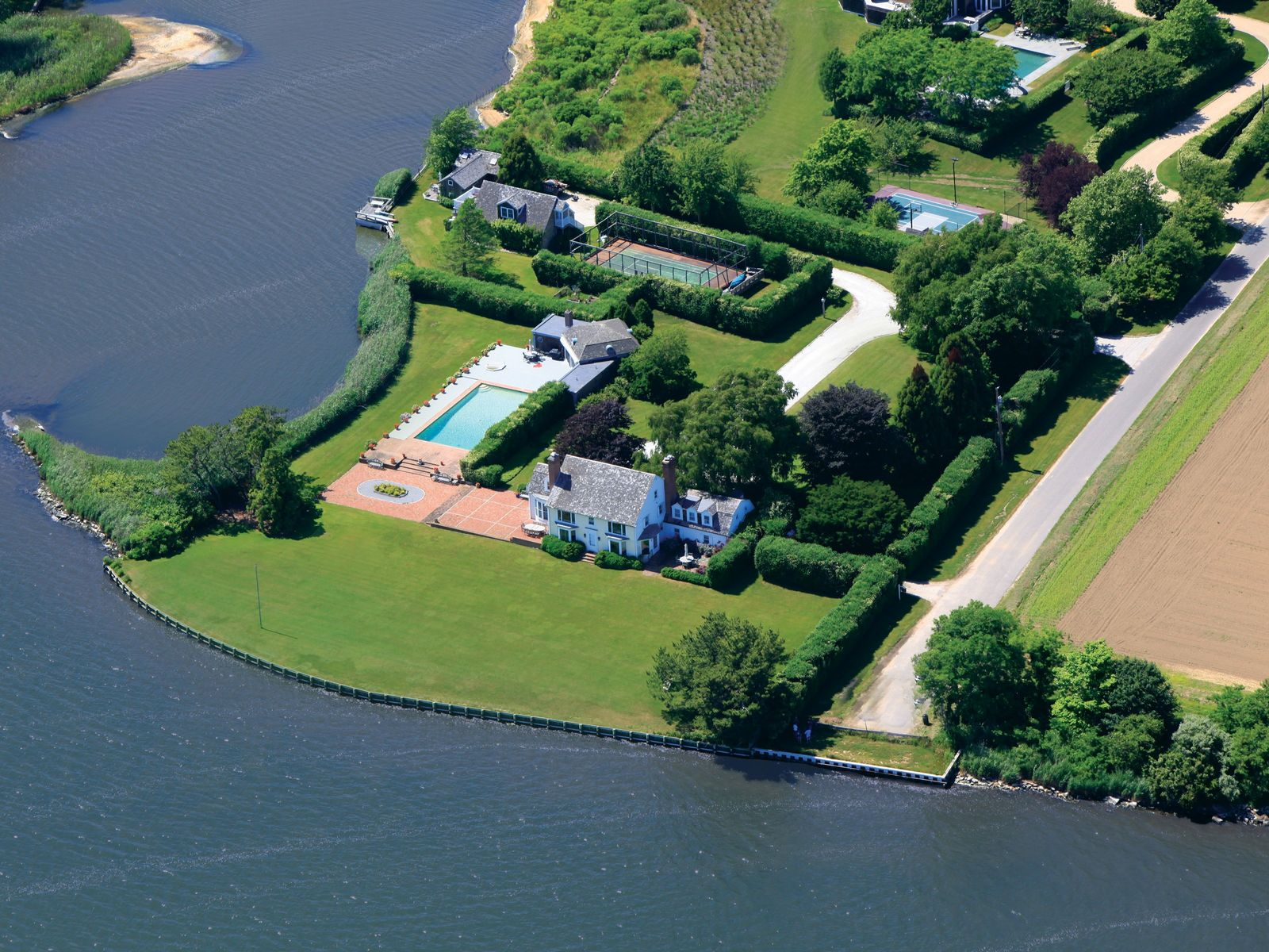 CrescentPoint MecoxBay Waterfront w/Dock, Water Mill NY Single Family Home - Hamptons Real Estate