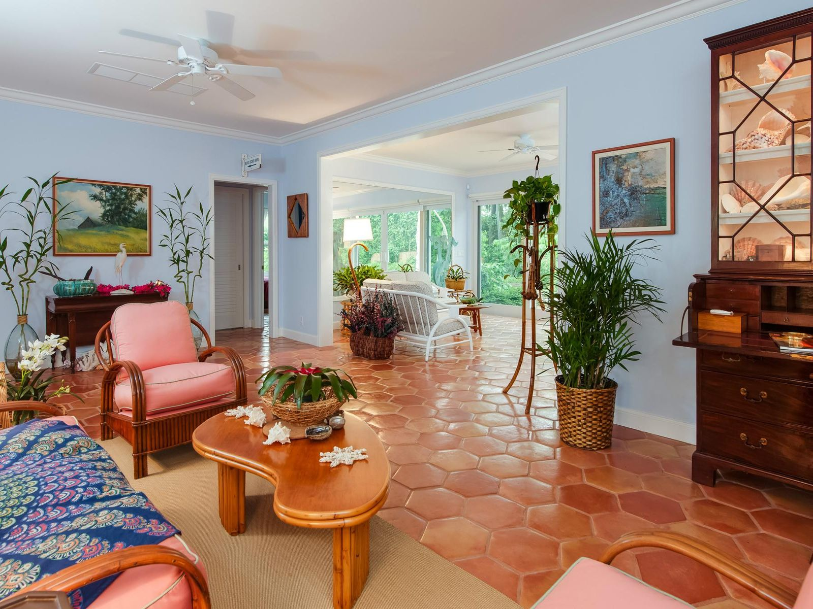 Tropical Beach House, Palm Beach FL Single Family Home - Palm Beach Real Estate