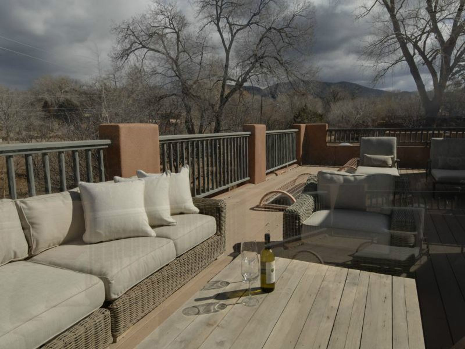Enjoy mountain views and relax on the 35 ft. Deck