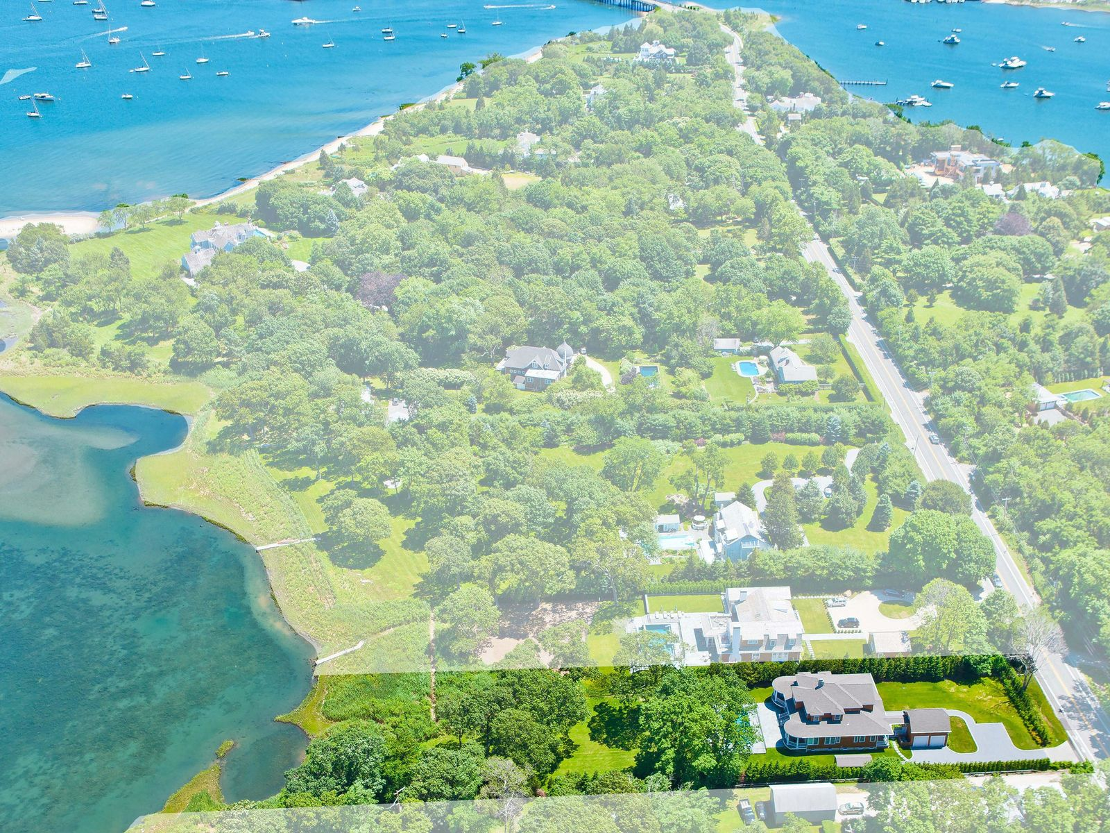 Custom Built North Haven Waterfront, Sag Harbor NY Single Family Home - Hamptons Real Estate