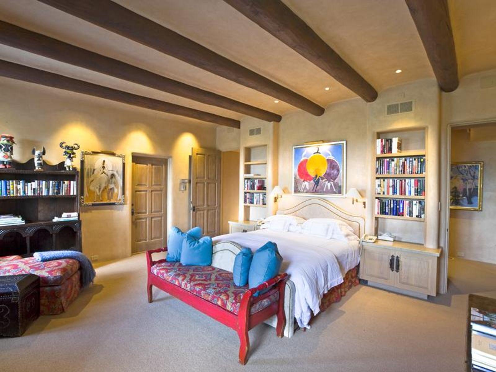 The master bedroom enjoys a gentle natural light..