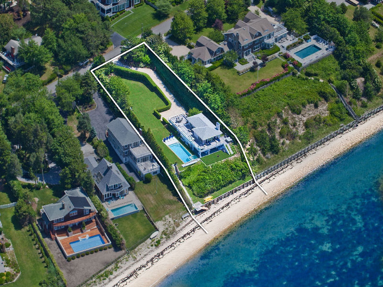 On the Beach in Southampton, Southampton NY Single Family Home - Hamptons Real Estate