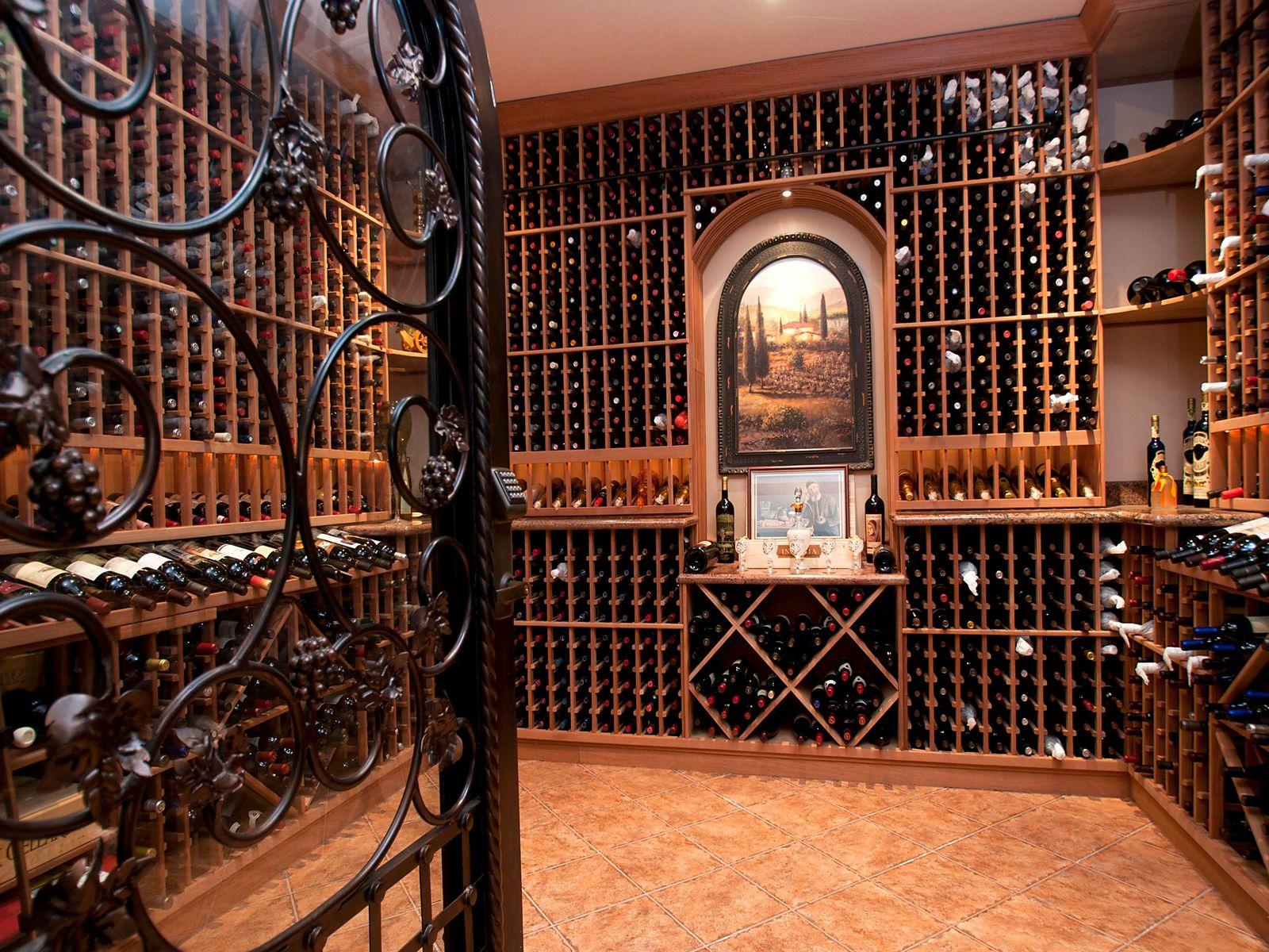 2800 Bottle wine cellar with artisan-built door
