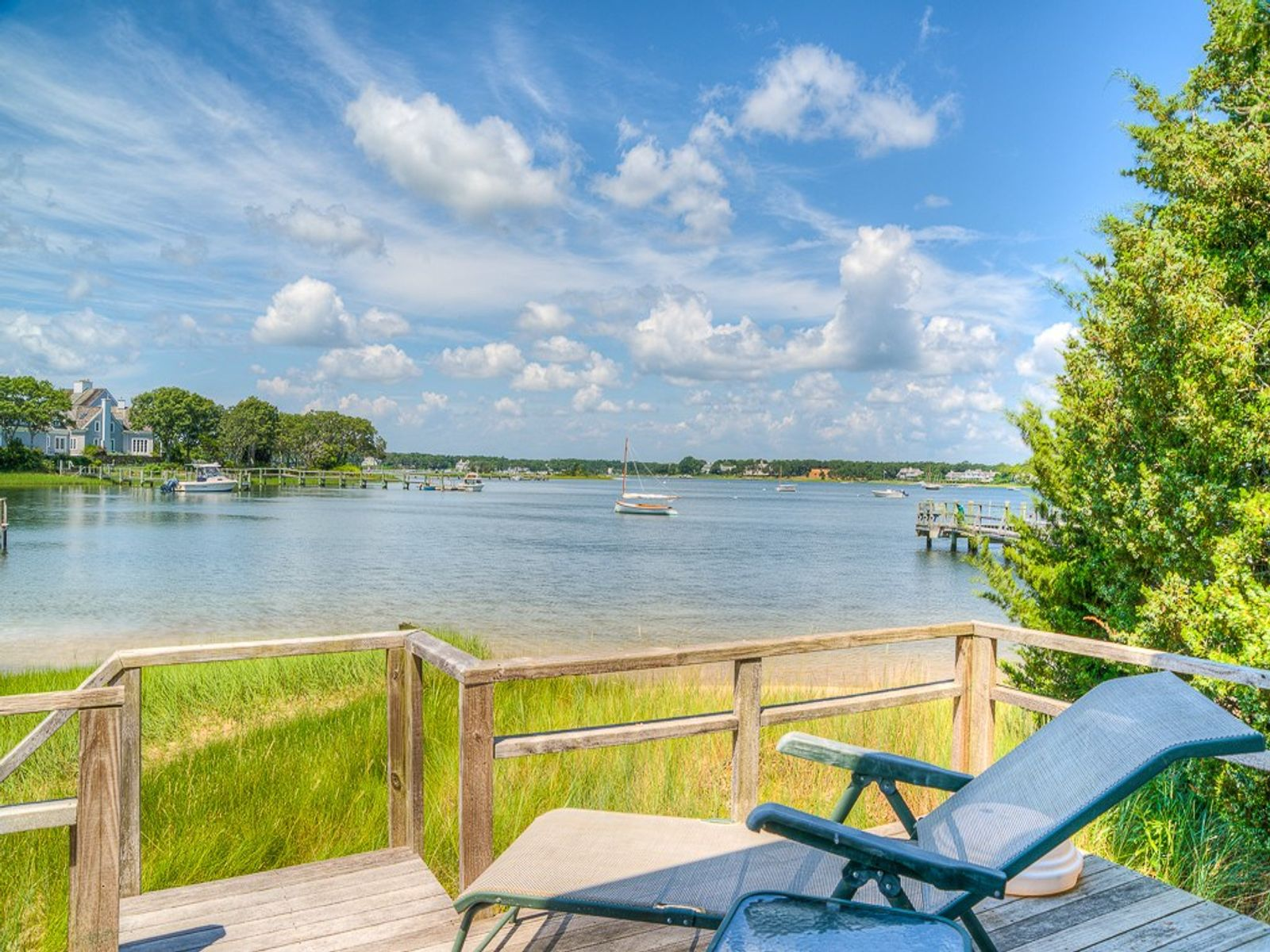 Beachfront with Boathouse and Dock, Osterville MA Single Family Home - Cape Cod Real Estate