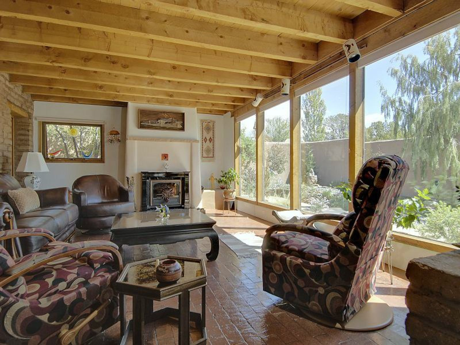 Livingroom with view of Fireplace with insert and