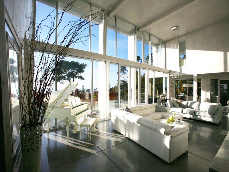 Glass House Bursting with Light
